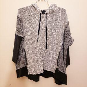 Size XS CLUB MONACO Poncho style hoodie